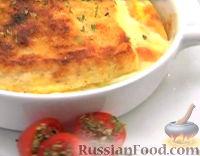 Фото к рецепту: Запеканка хлебная с сыром Моцарелла