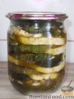 Фото к рецепту: Консервированные жареные кабачки