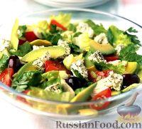 Фото к рецепту: Салат из брынзы с авокадо