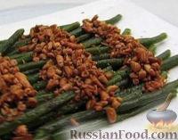 Фото к рецепту: Зеленая фасоль с кедровыми орешками
