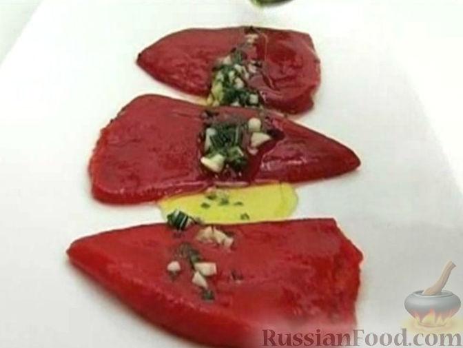 Рецепт Сладкий перец с луком и чесноком
