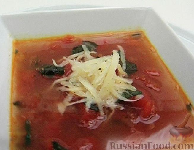 Рецепт Томатный суп с базиликом