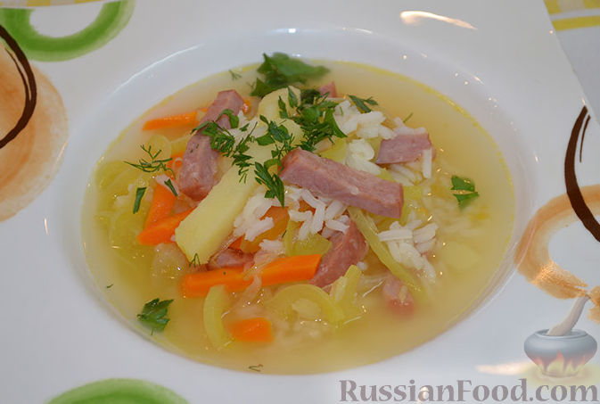 рисовый суп видео рецепт с фото