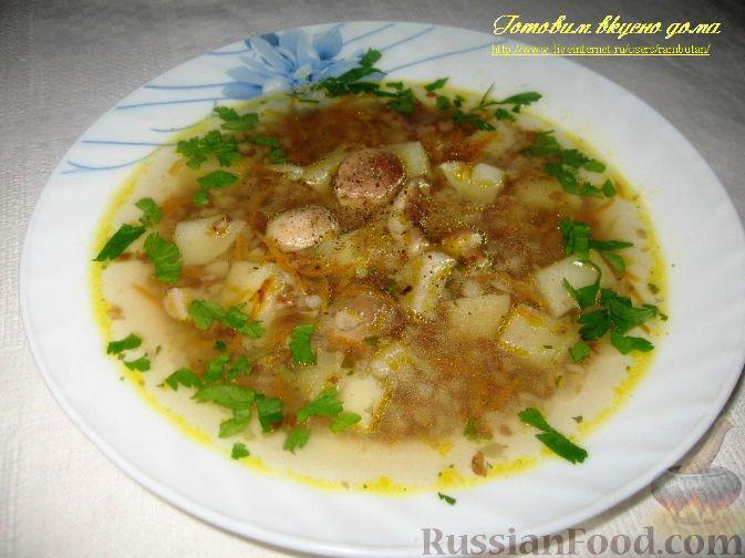 Рецепт Суп с белыми грибами и гречкой