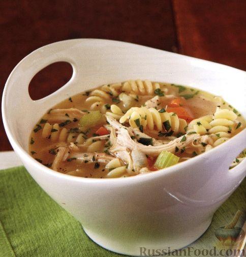 Рецепт Быстрый суп с куриным мясом и пастой