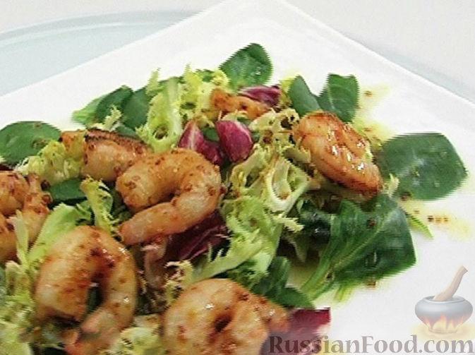 салат с жареными креветками рецепты с фото