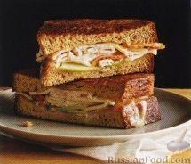 Рецепт Бутерброды с индюшиной ветчиной и сыром