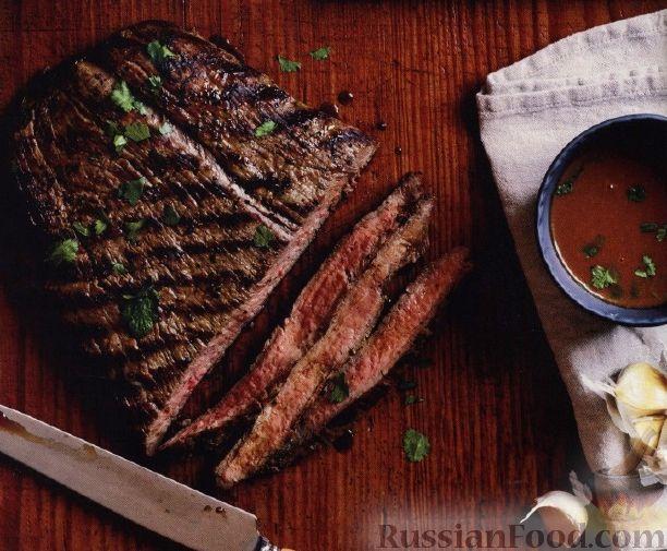 Рецепт Говяжий стейк с горчичным соусом