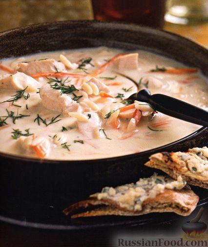 Рецепт Куриный суп с пастой орцо и яичной заправкой