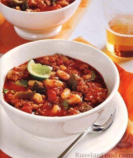 Рецепт Фасолевый суп с индюшиным мясом