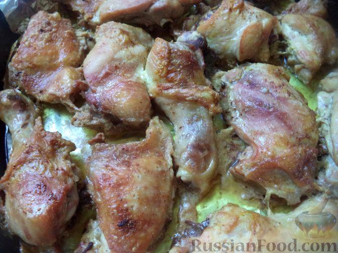 Рецепт Запеченная курица в сливочном соусе