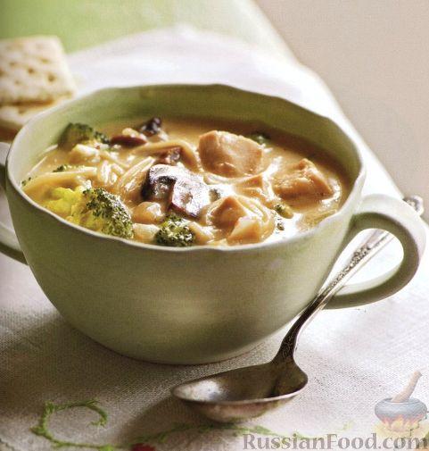 Рецепт Куриный суп с брокколи и вермишелью