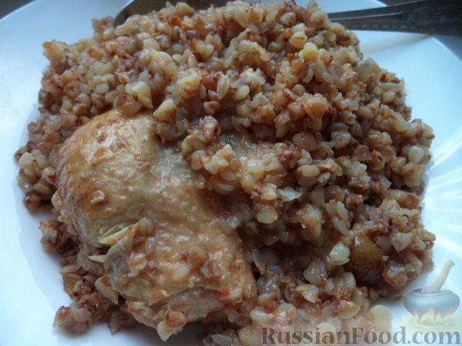 Рецепт Курица с гречкой (в мультиварке)