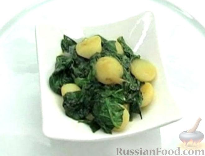 Рецепт Тушеный картофель со шпинатом