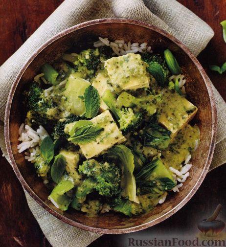Рецепт Рагу из брокколи и сыра тофу