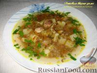Фото к рецепту: Суп с белыми грибами и гречкой