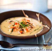 Фото к рецепту: Пряный суп с креветками