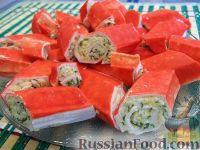 Фото к рецепту: Роллы из крабовых палочек