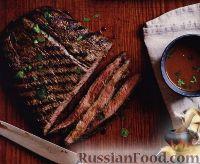 Фото к рецепту: Говяжий стейк с горчичным соусом