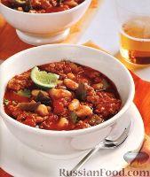 Фото к рецепту: Фасолевый суп с индюшиным мясом