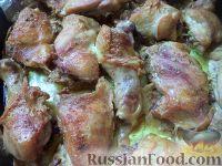Фото к рецепту: Запеченная курица в сливочном соусе
