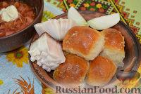 Фото к рецепту: Ароматные пампушки с чесноком