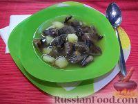 Фото к рецепту: Суп из замороженных грибов