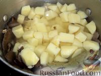 Фото приготовления рецепта: Суп из замороженных грибов - шаг №9