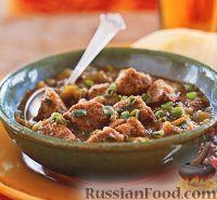 Фото к рецепту: Острое рагу из свиного филе и физалиса