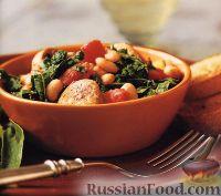 Фото к рецепту: Быстрое рагу с колбасой и фасолью