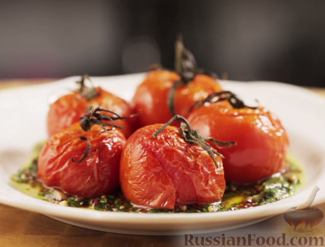 """Рецепт Печеные помидоры с соусом """"Чимичурри"""""""