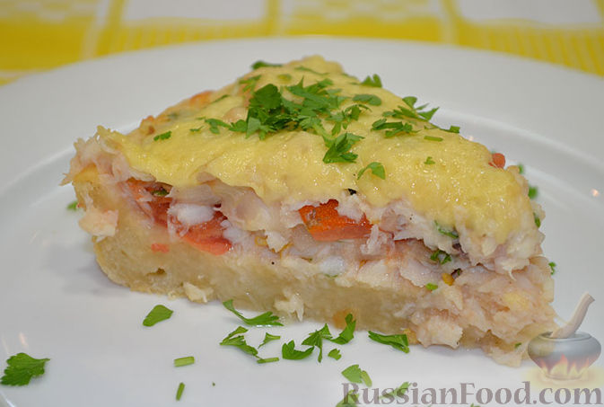 Рецепт Рыбный пирог с сыром