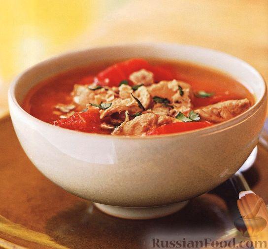 Рецепт Пряный куриный суп