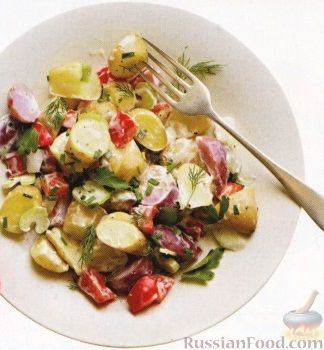 Рецепт Картофельный салат с овощами