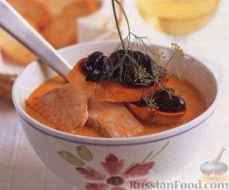 Рецепт Рыбный суп с помидорами и фенхелем