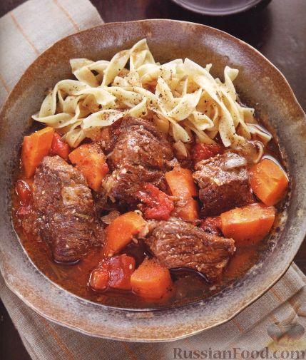 гуляш из говядины с томатной пастой рецепт с фото
