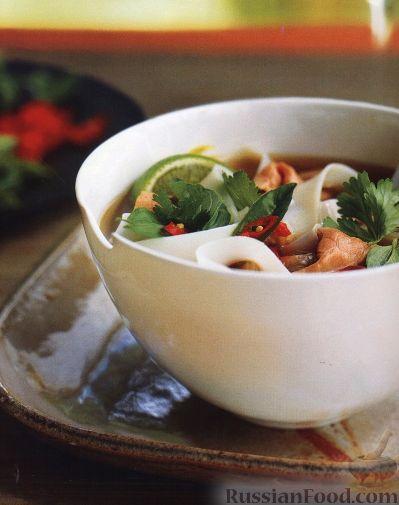 Рецепт Суп с говядиной и рисовой лапшой