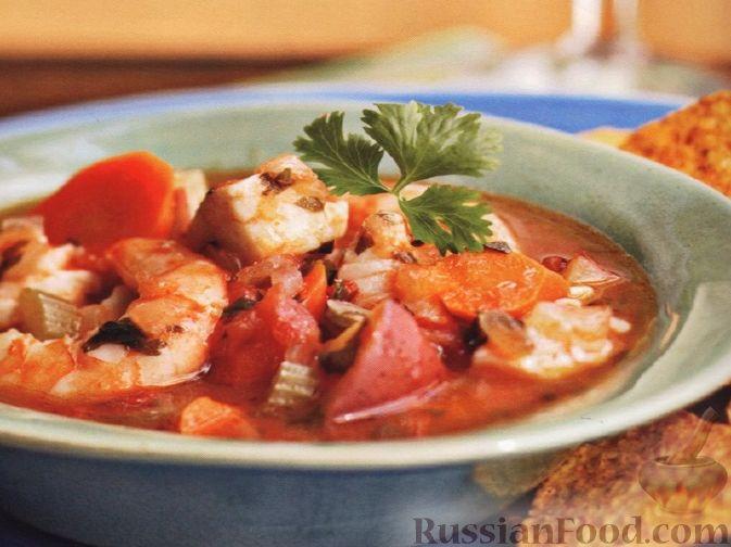Рецепт Рагу из рыбы и креветок