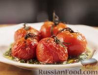 """Фото к рецепту: Печеные помидоры с соусом """"Чимичурри"""""""