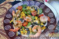 Фото к рецепту: Паста-салат с креветками