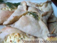 Фото к рецепту: Хачапури из слоеного теста