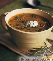 Фото к рецепту: Суп-пюре из чечевицы