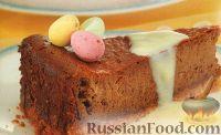 Фото к рецепту: Шоколадный чизкейк с белым соусом