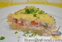 Фото к рецепту: Рыбный пирог с сыром