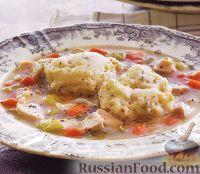 Фото к рецепту: Куриный суп с галушками