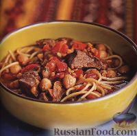 Фото к рецепту: Спагетти с бараниной