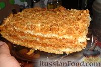 Фото приготовления рецепта: Наполеон (торт с кремом из сгущенки) - шаг №15
