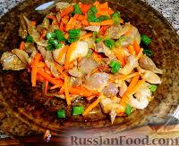 Фото к рецепту: Желудочки куриные по-корейски