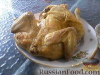 Фото к рецепту: Курица на соли