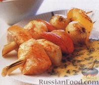 Фото к рецепту: Шашлыки из морепродуктов